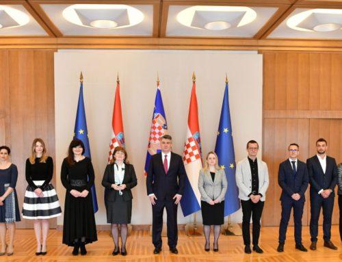 Predstavnici Hrvatskog nacionalnog saveza sestrinstva na prijemu kod predsjednika Republike
